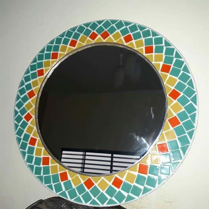 moldura para espelho redondo