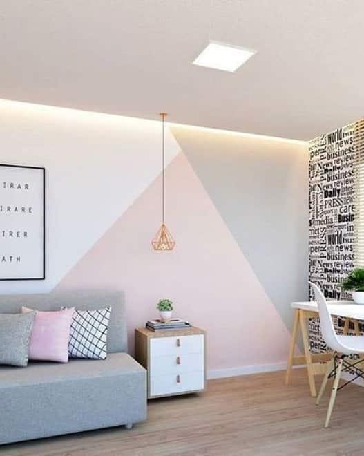 parede pintada com fita crepe