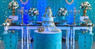 tema de festa de 15 anos azul