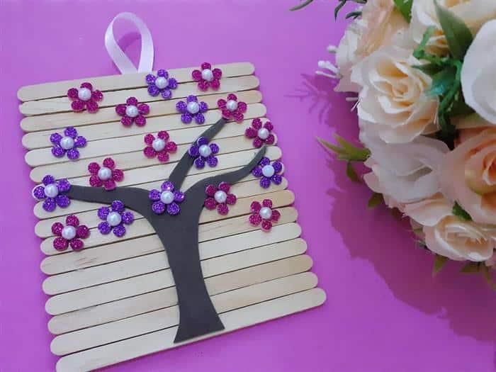 enfeite decorativo simples feito com palito