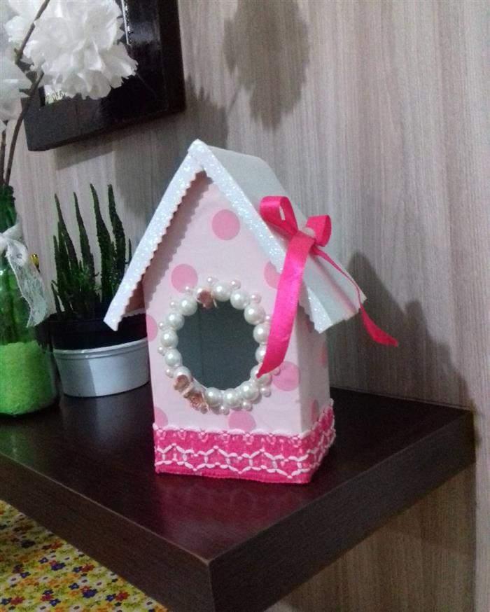 asinha decorativa com caixa de leite