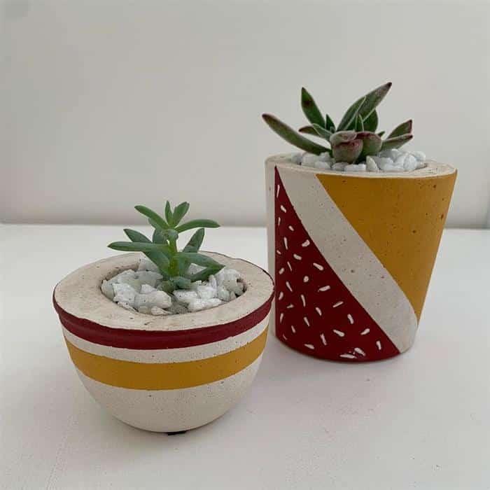 cores para vasos de cimento