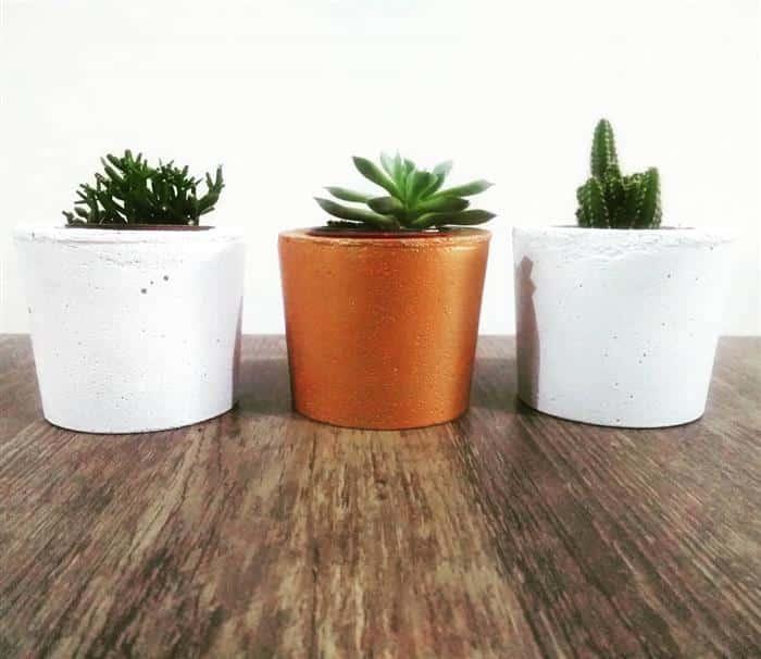 vasos de cimento lindos