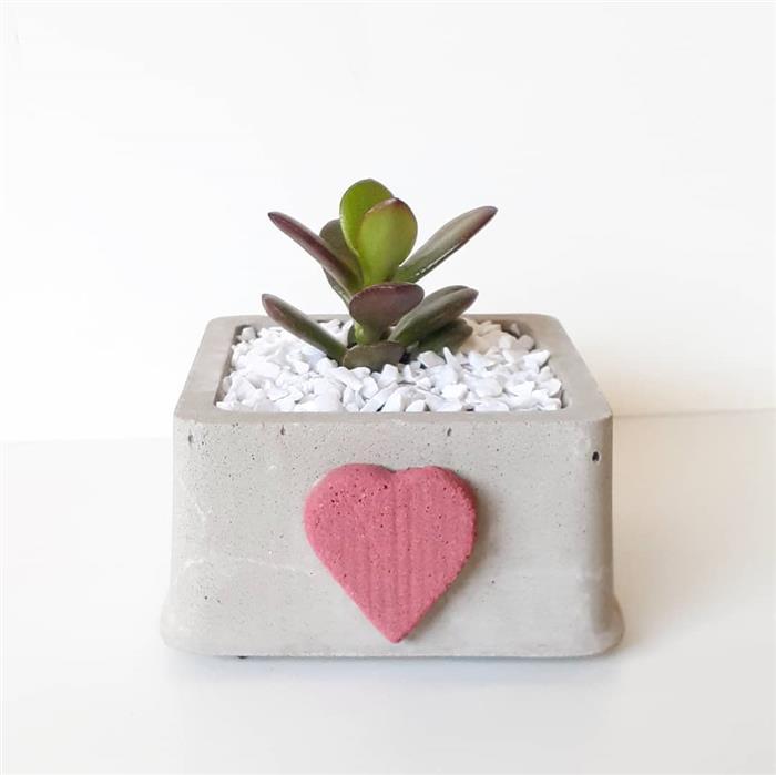 vasos de cimento para jardim