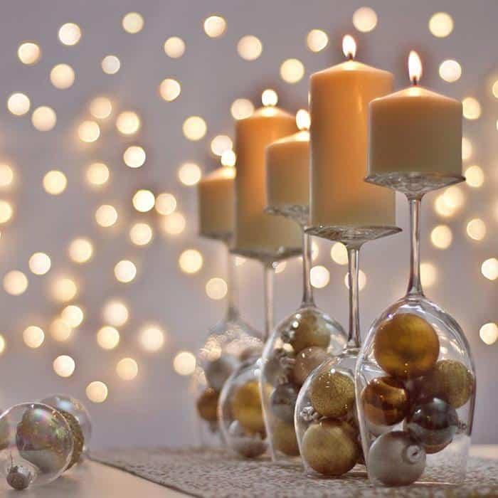 decoração ano novo dourado e prata