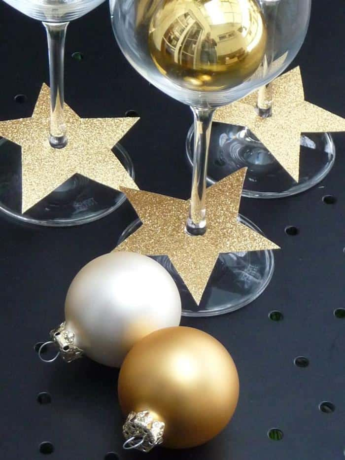 decoração de ano novo com taças