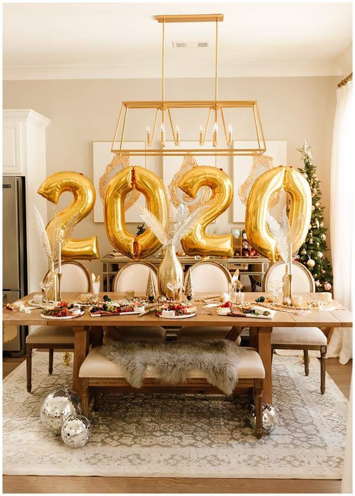 decoração de festa de ano novo