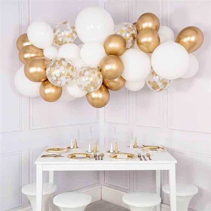 decoração de mesa de ano novo