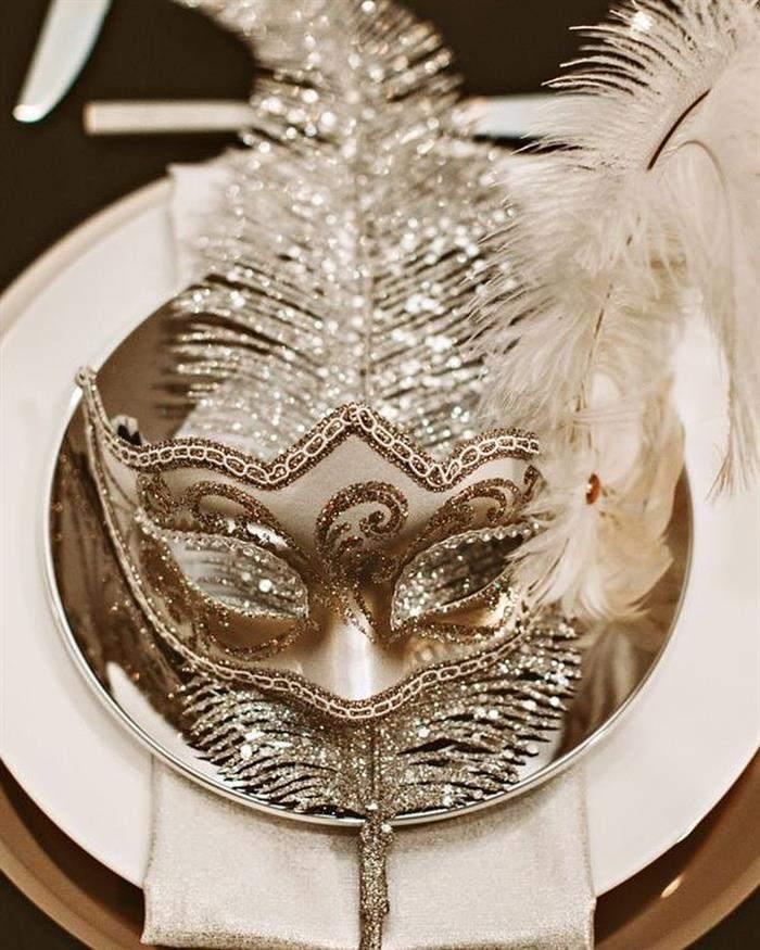decoração mesa de jantar ano novo