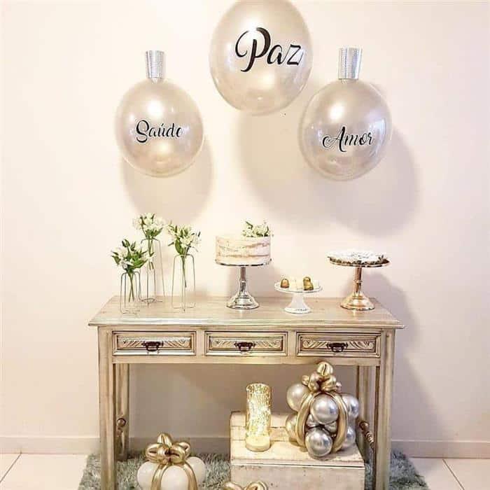 decoração para festa de ano novo