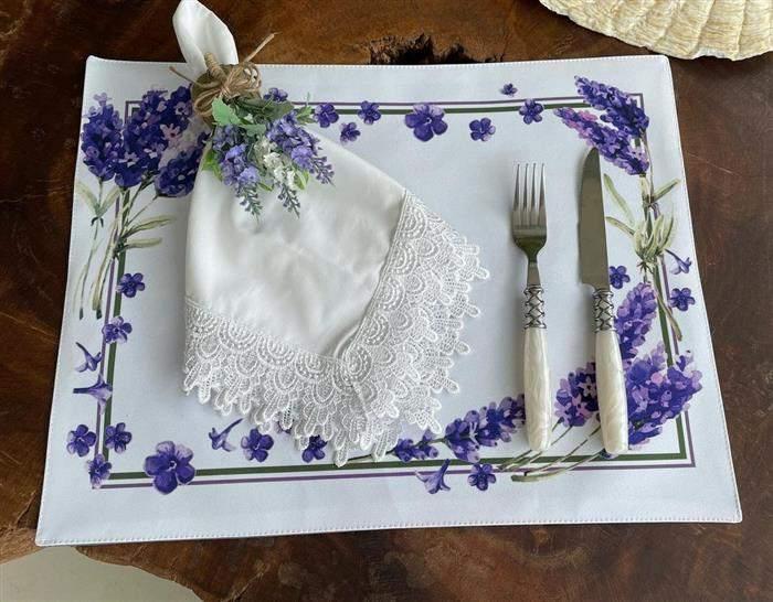 porta guardanapo de flor de lavanda