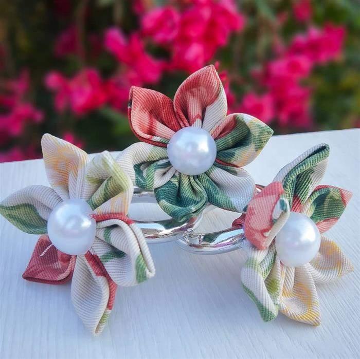 porta guardanapo de flor de tecido