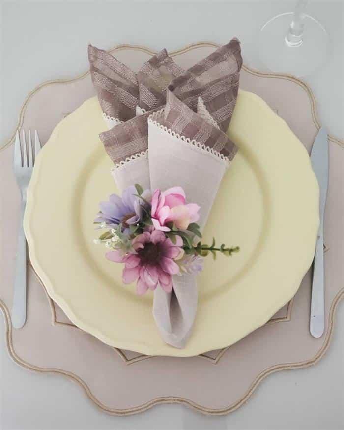 porta guardanapo de flor para mesa
