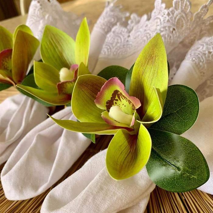 porta guardanapo flor orquidea