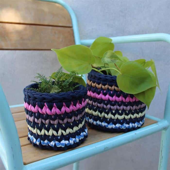 cachepot colorido