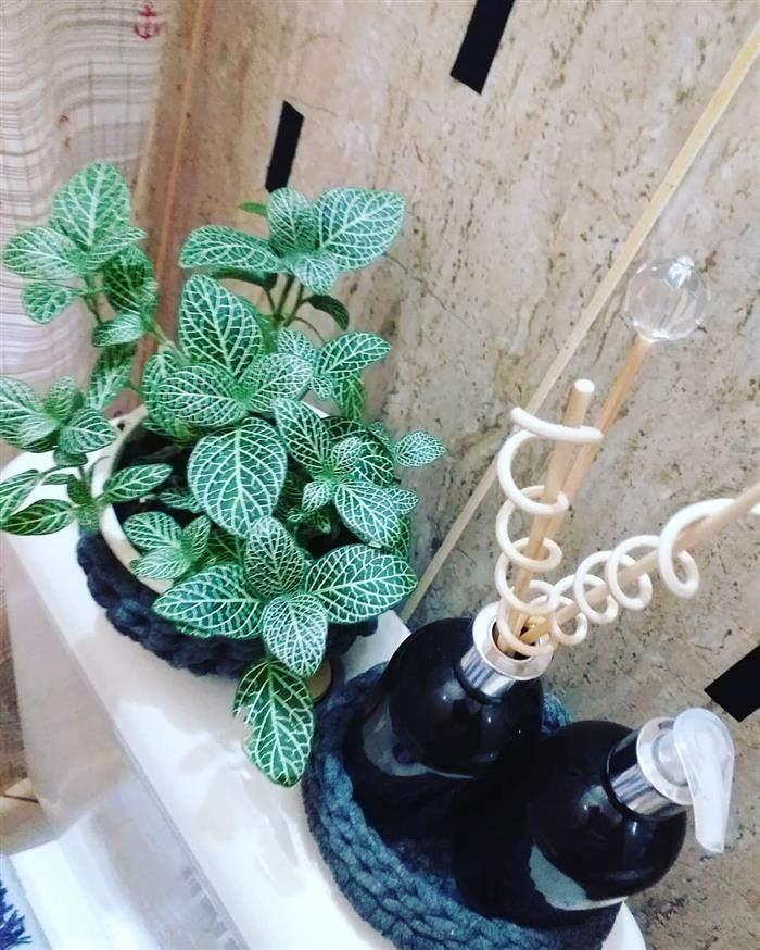cachepot de croche para banheiro