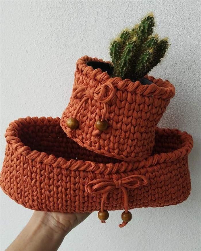 cachepot em croche