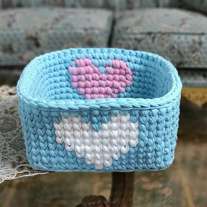 cachepot retangular croche