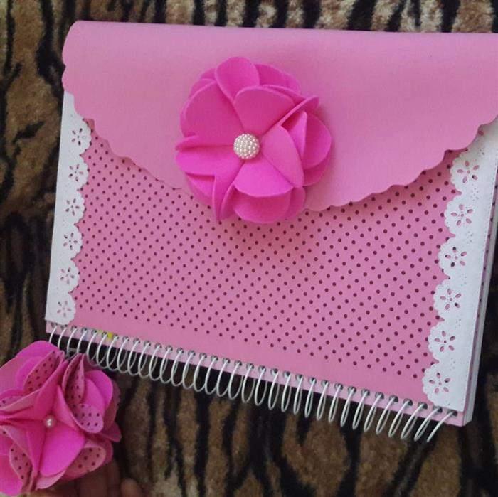 capa com fecho para caderno