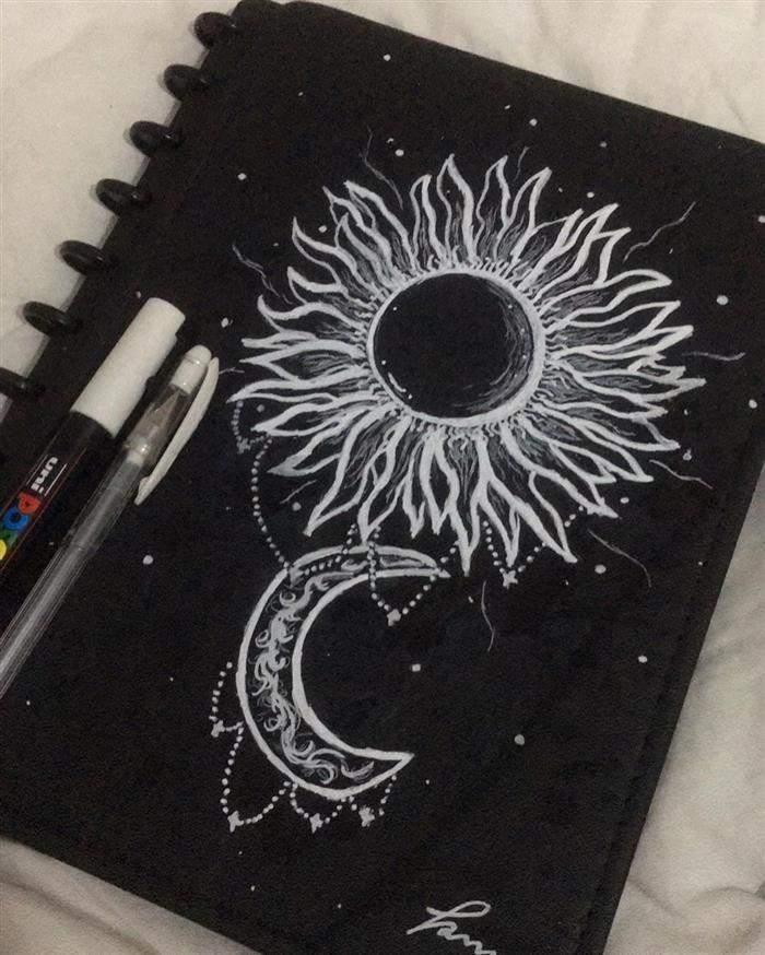 capa de caderno com desenho