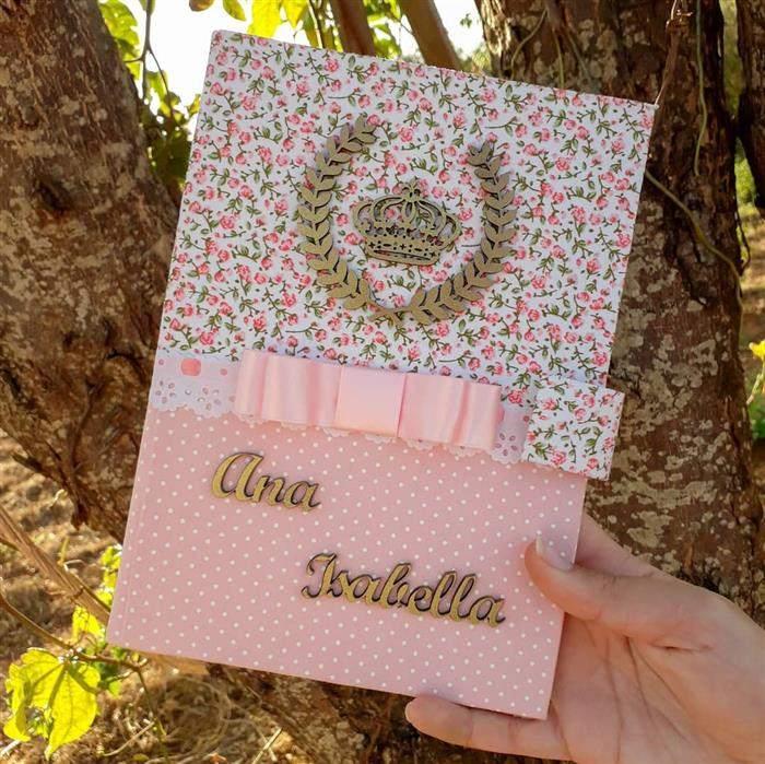capa de caderno de tecido