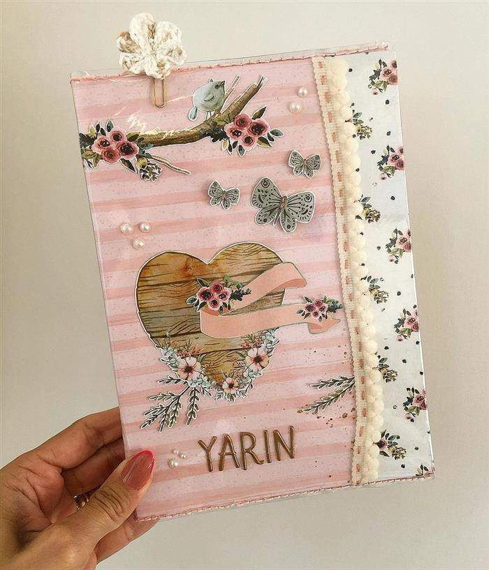 capa de caderno delicada