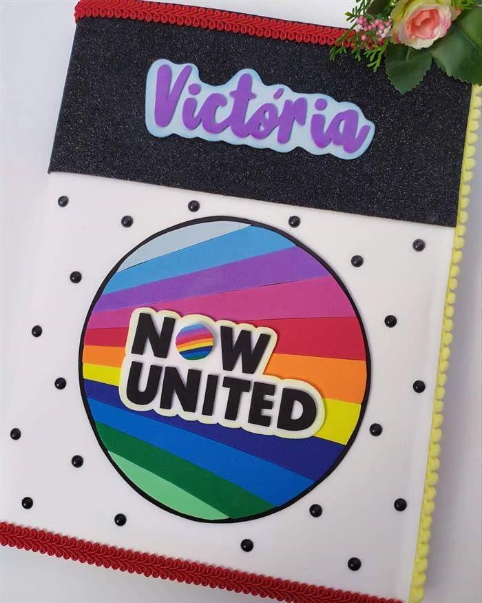 capa de caderno do now united