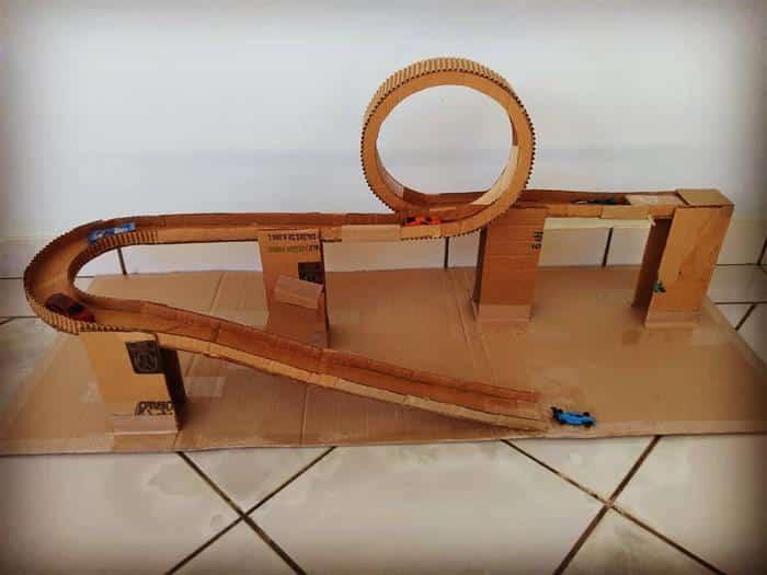 pista de corrida com looping