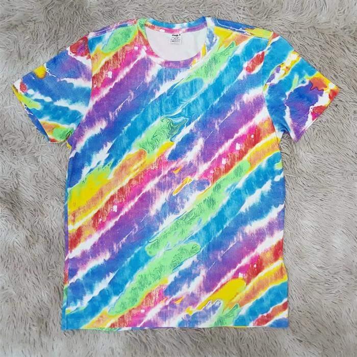 listras camiseta tie dye