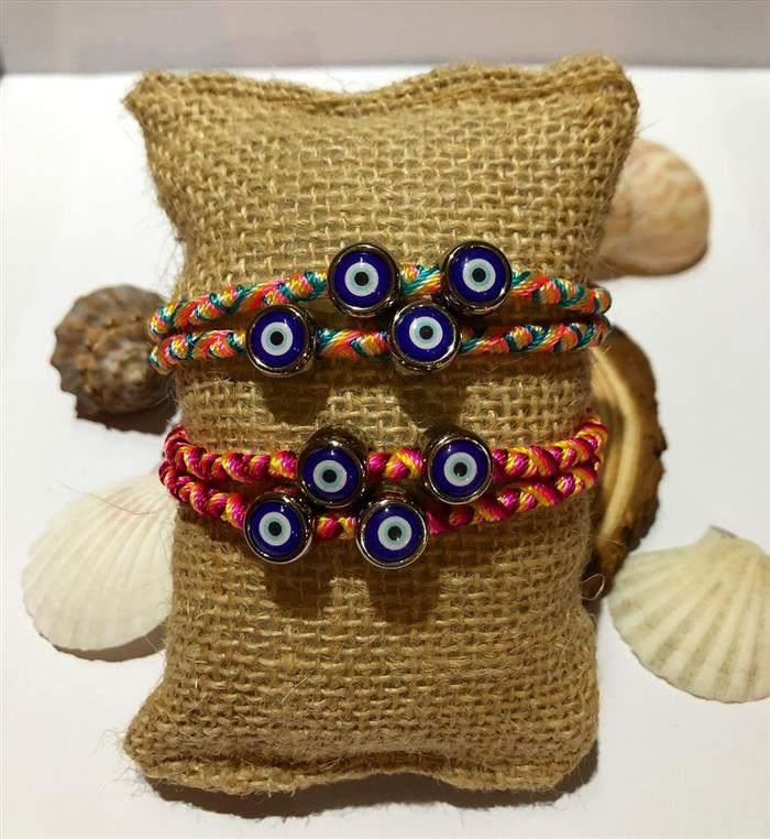 pulseira com olho grego