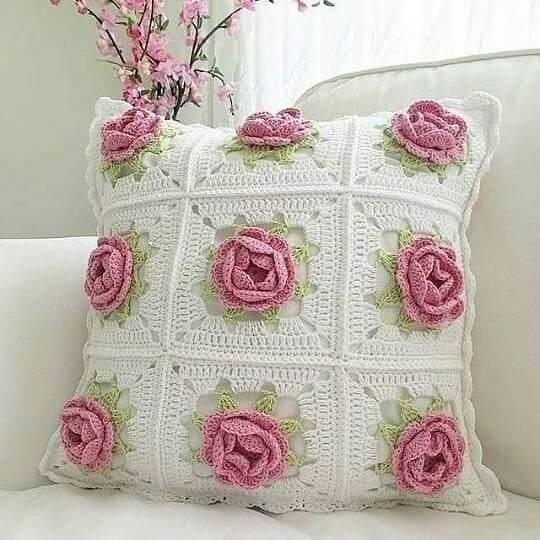 rosas de croche