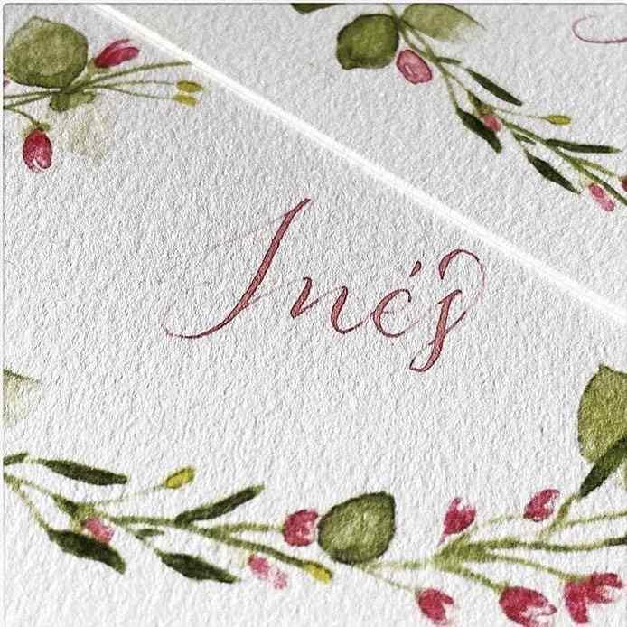 caligrafia artística para convite de casamento