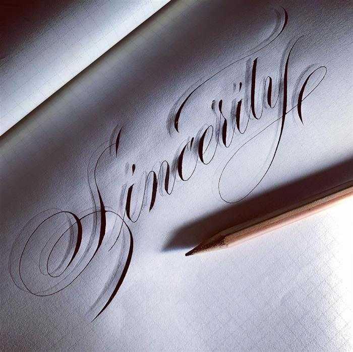 caligrafia com letra cursiva