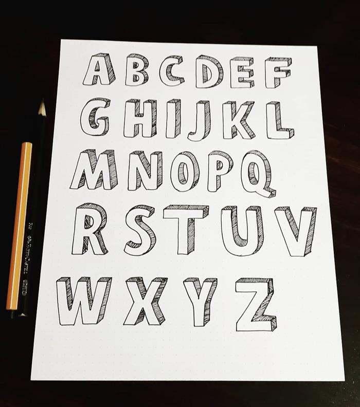 caligrafia com letra de forma